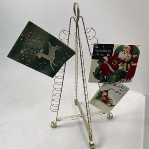 MCM Metal Christmas Tree Shaped Card Holder